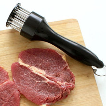 professional meat tenderizer needle with stainless steel kitchen tools / meat veal steaks cooking tenderizer tool