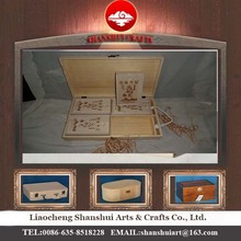 Manufacturing custom different styles Shanshui brand wooden box wholesale