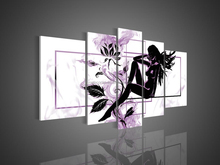 High grade beautiful abstract magical light purple color flower sky oil Painting on Canvas for bedroom