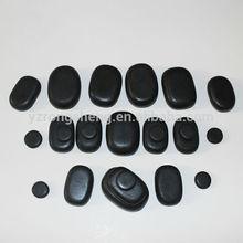hecho a mano de spa de basalto masaje oval de piedra gua sha masaje
