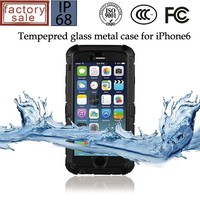 Newest Tempered Glass Screen Metal Case Shockproof,Fall proof & Dustproof for iphone 6 4.7 inch