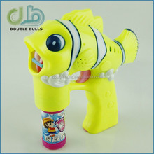 Bubble Gun Type and Plastic Material LED Flashing Light-Up Bubble Blowing Gun Rave Party Toy