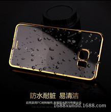Xundd electroplating transparent pc back cover case for samsung s6 edge plus