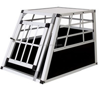 Dog kennel wholesale transport cage car aluminium Pet house trolley kennel outdoor