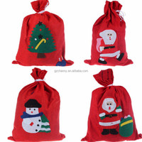 Large Size Father Merry Christmas Santa Sack Red Non-woven Fabric Big Bags Candy Gift Prenents XMAS Toy Tree Decoration