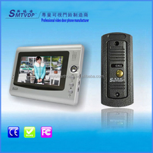 7 inch screen classical design color 4-wire analog villa video doorbell