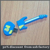 custom 8GB guitar shape usb pvc flash drive