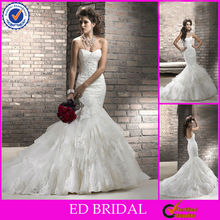 EW06 2013 New Alencon Lace Wedding Dress Mermaid Bridal Wedding Dress