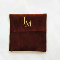 Customized logo Foldable Gift Pouch Velour Bag,Velvet Envelop Pouch flap over