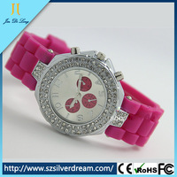 Geneva Watches Popular Jelly Silicone Quartz Lady Geneva Watch