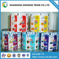 Custom Printed PET Plastic Food Packaging Jelly Film Roll