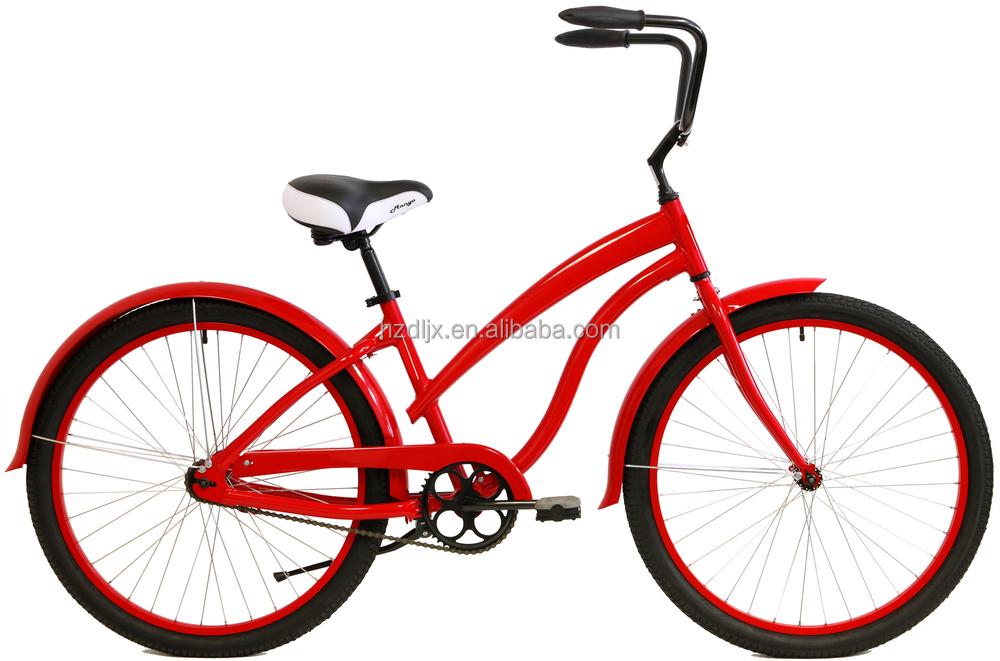 bicicletas chinas marco barato de crucero de la playa en neumáticos ...