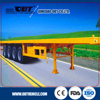 Multi Purpose 3 Axles 70ton container transporting 40ft flatbed semi trailer (side wall optional for bulk cargo carrier)