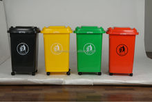 Taizhou Plastic Moulding 50L HDPE Waste Bins With Wheels and Cover,Outdoor Garbage Can,Outdoor Plastic Trash Can