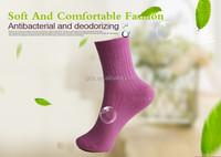 Anti odor sweat absorbent anti bacterial silver fiber socks for diabetic