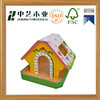 Eco-friendly DIY colorful wooden decorated bird house