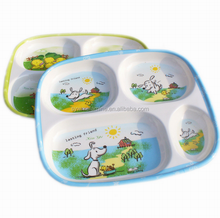 Best Quality 4 compartments Melamine Kids Tray