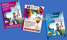 Best price premium RC Glossy Inkjet Photo Paper 24'' 36'' 42'' rc photo paper roll