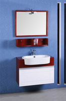 Square Wall Hanging Solid Wood Bathroom Cabinet Vanity for Bathroom