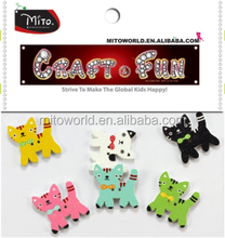 animals Shaped Painted Wooden Buttons crafts for toddlers