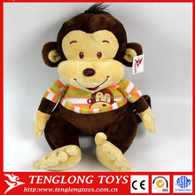 Cute cartoon Monkey names plush toy with cloth for children plush toy Monkey