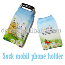 Sublimation cotton logo Mobil socks as custom size