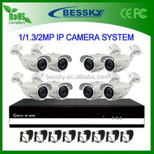 8 CH IP CAMREA NVR Kit,outdoor onvif camera for parking lot,h.264 ptz wifi ip camera