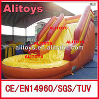 Alitoys yellow color best selling banzai inflatable water slide