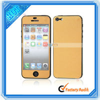 Body + Edge Metal Sticker For iPhone 5 Gold Dot (87010796)