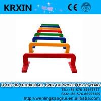 best quality plastic hurdles for kids sensory training PE materail