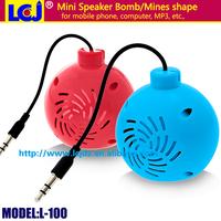 L-100 portable mini Bomb Mines computer speaker mobile phone speaker