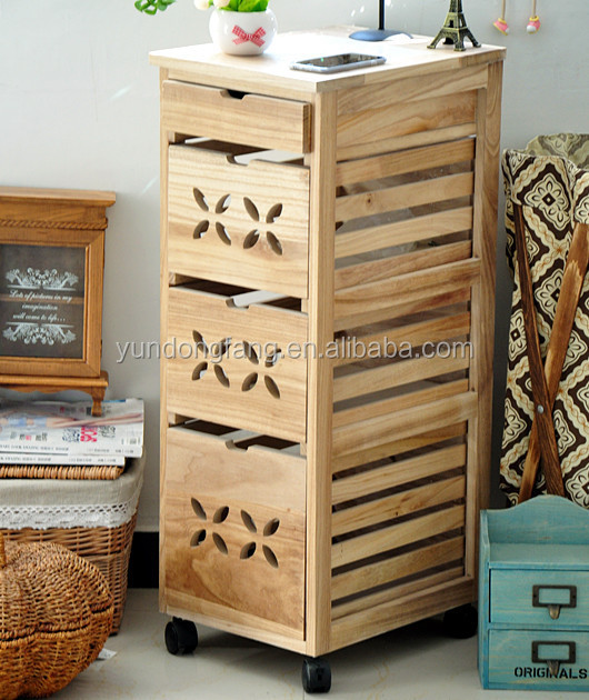 Kitchen Cabinets On Wheels: Kitchen Furinture Wooden Storage Cabinet With Wheels