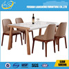 2015 new Model: DT014 2015 hot sale new design rectangle wood dining table with high glossand chairs