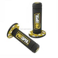 "Yellow PRO Taper Grip Throttle Grips Pro Pit Dirt Bike 7/8"" Handle Bar Grip"