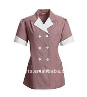 lady's double breasted housekeeping lapel pincord dress