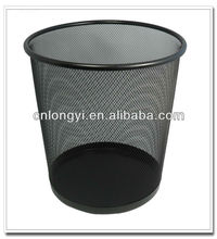 Factory Wholesale Daily Household Cleaning Items Recyclable Metal Mesh Colorful Round Rubbish Bin