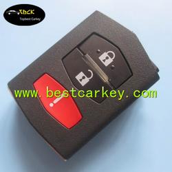 New model car remote key head 2+1 button for mazda flip key / mazda key shell
