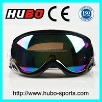 UV 400 ice sports goggles with black brilliant frame