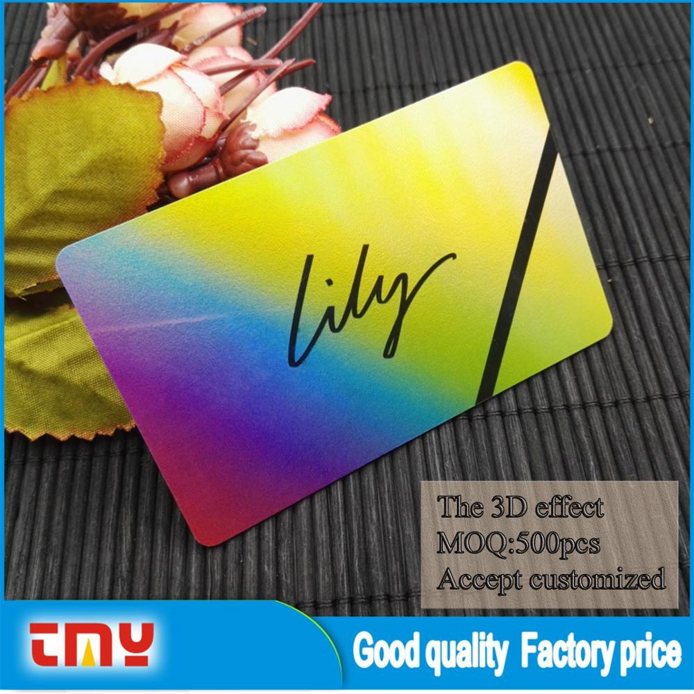 Plastic 3d Lenticular Business Card Printing - Buy Business Card ...
