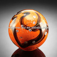 Wonderful Yellow Black Crystal Sphere Glass sphere