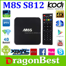 Promotion!!! quad core amlogic s812 android tv box full hd media player 1080p hd sex pron video tv box android M8S