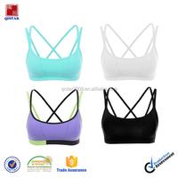 Wholesale 86% Nylon 14% Spandex Custom Women Athletic Apparel Dri Fit Gym Wear