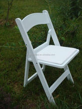 2015 hot cheap outdoor resin white folding chair for sale