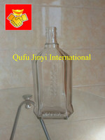 factory price transparent 500ml glass alcohol bottle