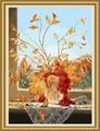 Fleur d'orchidée peinture 40*50cm prix usine, peinture sur toile