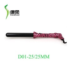 professional pink leopard hair curler /curling iron 25/25mm