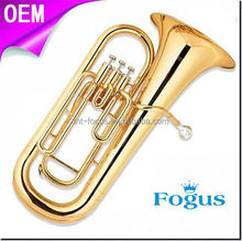Chinese Yellow Brass Body Euphonium for Sale