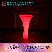 Color changing plastic PE material furniture,night club illuminated led bar Led Rechargeable Table Light For led bar furniture