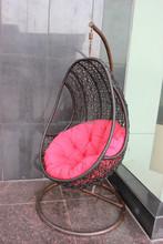 Round rattan bedroom swing bed outdoor hangling egg swing chair