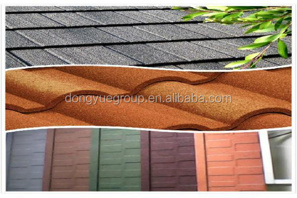 Dongyue Stone Coated Steel Roofing Tile Building Material